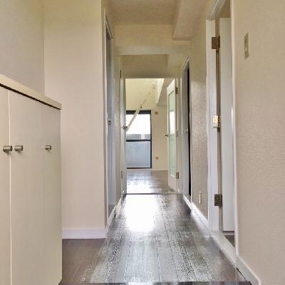 玄関のタイルがおしゃれなんです。