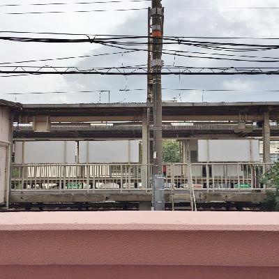眺望は駅。ちょっと視線が気になります。。。