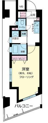 新横浜8分マンション の間取り