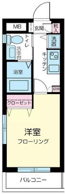 中野新橋3分マンション の間取り