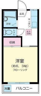 武蔵境15分アパート の間取り
