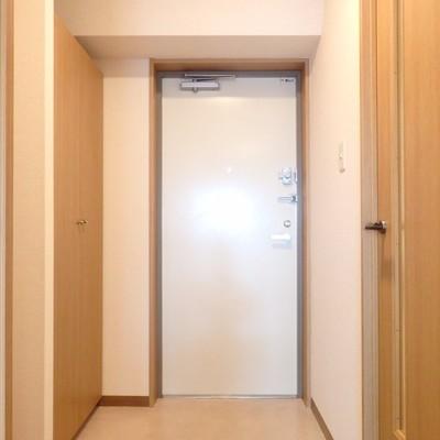 玄関も広くて使いやすい