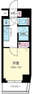 渋谷13分マンション の間取り