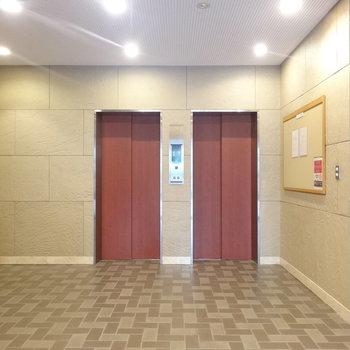 エレベーターは2つありますよ