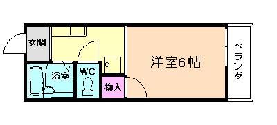 桃山台25分アパート の間取り