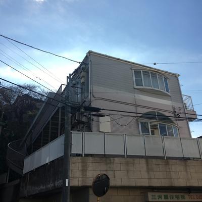 外観。2階からスタート!