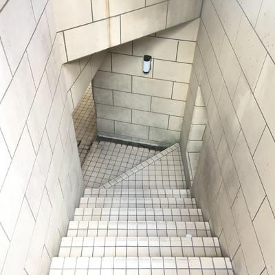 エントランスから、この階段を登ります。