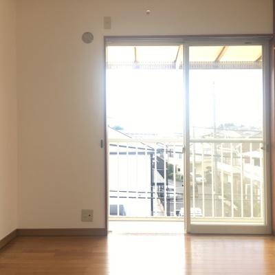 こっちは寝室。和室とバルコニーで繋いでます
