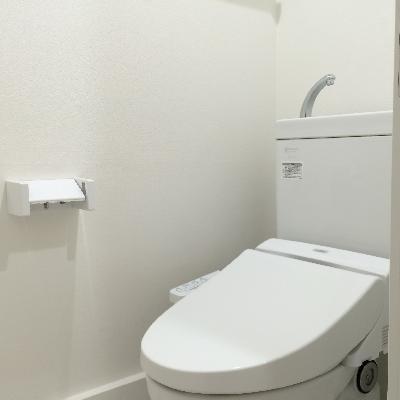 ウォシュレット付きの綺麗なトイレ