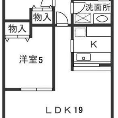 専有面積はナント67.1㎡。2LDKのお部屋です