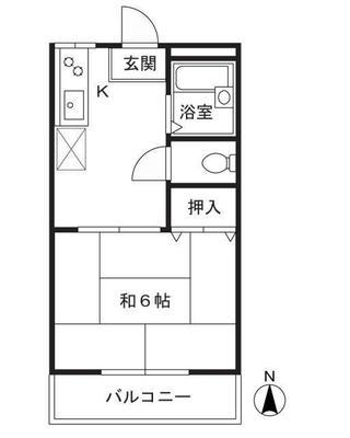 武蔵小杉15分アパート の間取り