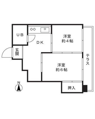 武蔵新城3分マンション の間取り