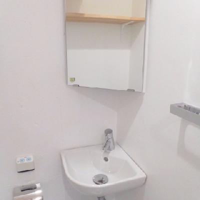 洗面スペースはトイレにあります。