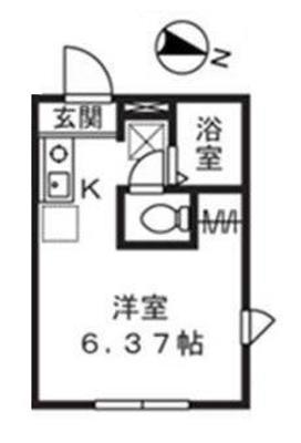武蔵溝ノ口14分アパート の間取り