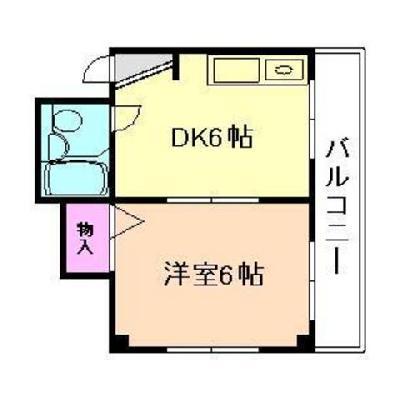 お部屋は2DKタイプ※間取り図は別のお部屋です。