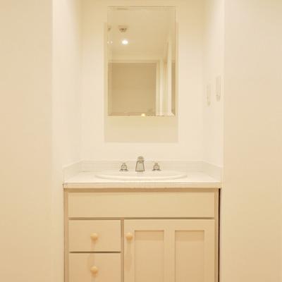 アンティーク感のある洗面。