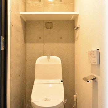個室のトイレうれしい。※写真は5階の同間取り別部屋です。