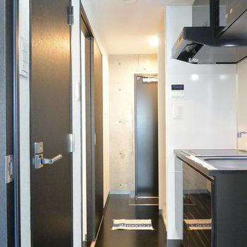 廊下のかんじも期待を裏切らない。※写真は5階の同間取り別部屋です。