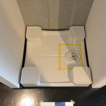 洗濯機置き場はこちら ※写真は別部屋となります