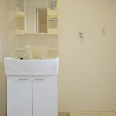 洗面の横に洗濯置き場。