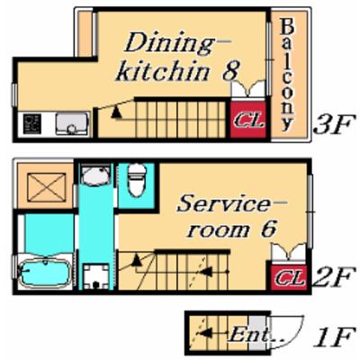 一人暮らしで3階建て。