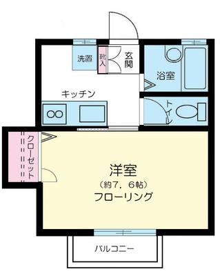 仙川12分アパート の間取り