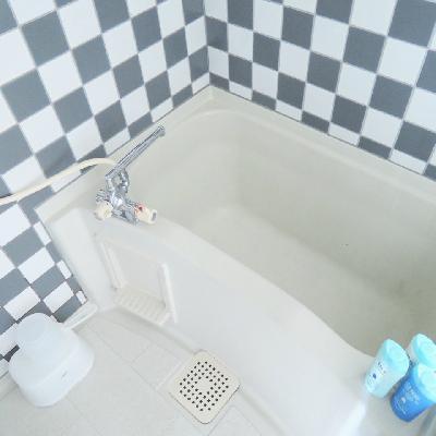 お風呂の設備は最低限 !