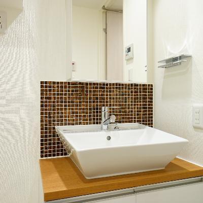 洗面台が可愛いデザイン♪