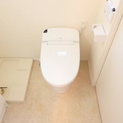 ウォシュレット付きのトイレで嬉しい!