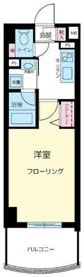 新横浜4分マンション の間取り