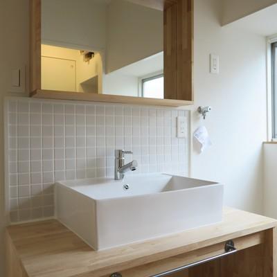 洗面台は大工お手製!※完成後イメージです
