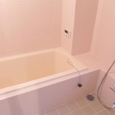 ピンクの浴室!