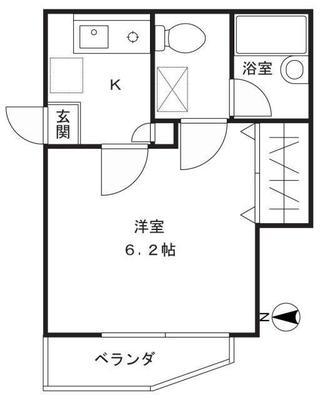 武蔵小杉11分アパート の間取り