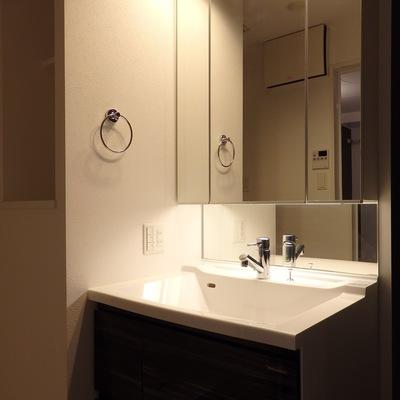 洗面台もスッキリオシャレなタイプのものを使用