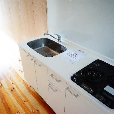 キッチンはゆったり2口ガス!