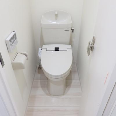 綺麗なトイレ、設備も◎