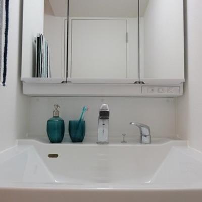 洗面台も大きなタイプ ※写真は別部屋