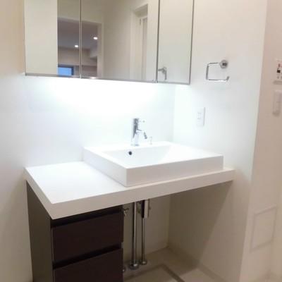 洗面台はシンプルですね