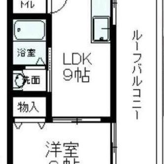 LDKは広々で冷蔵庫なども余裕で置けます