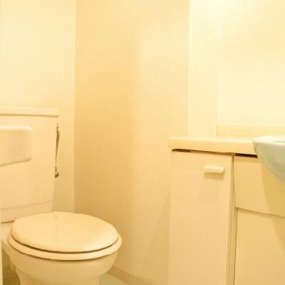 洗面台とトイレが仲良し