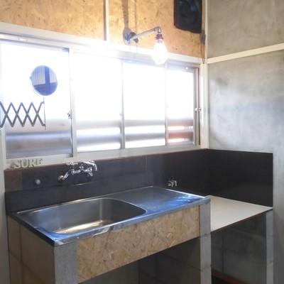 キッチンのデザインもかわいい