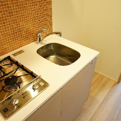 キッチンが2口ガスです♪※前回募集時のものです