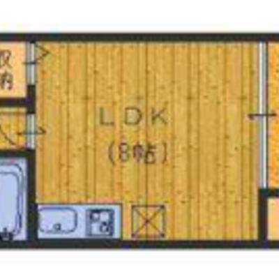 お部屋はシンプルな1LDK。