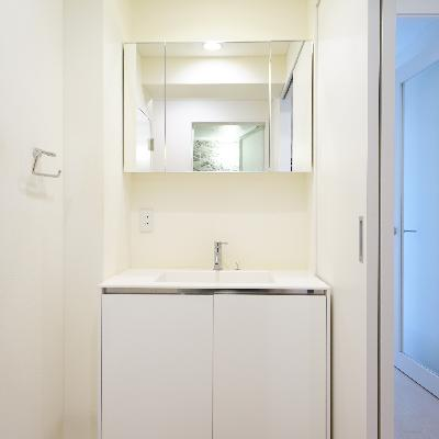 洗面台も広めのサイズです!
