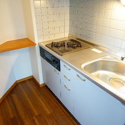 キッチンは2口ガスでゆったりサイズ♪