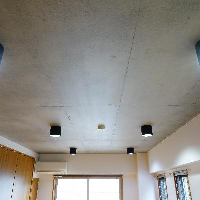 天井のコンクリとライトの相性◎