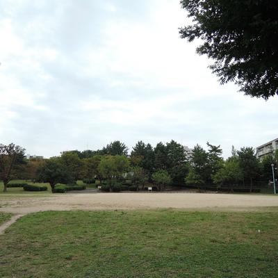 すぐそばに大きな公園あります。