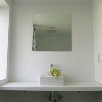 洗面台もシンプル