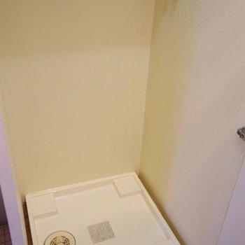 洗濯機は玄関の横に