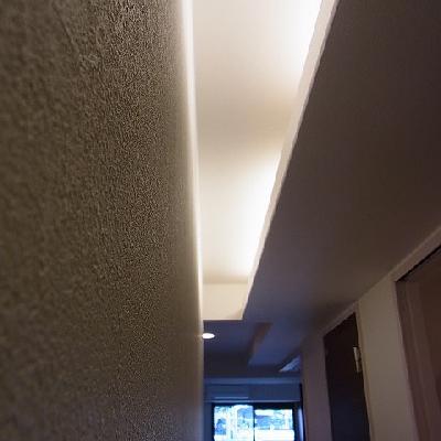 天井の間接照明が粋です※写真は201号室